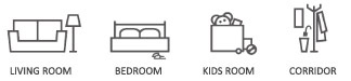 city rugs in rooms